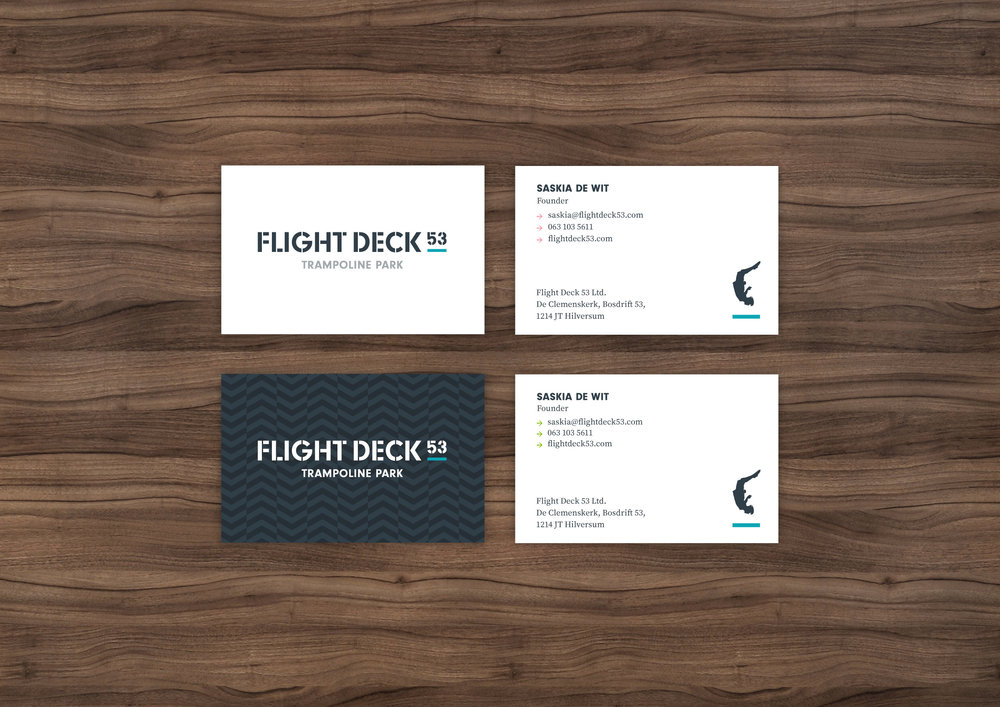 Flight Deck 53 business cards – Design by Ian Whalley