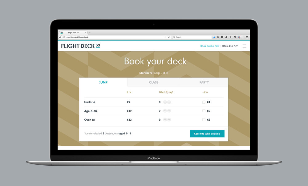 Flight Deck 53 website design visual – Design by Ian Whalley