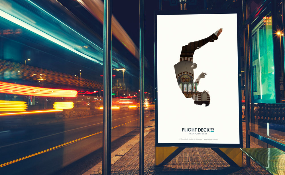 Flight Deck 53 launch advertising – Design by Ian Whalley