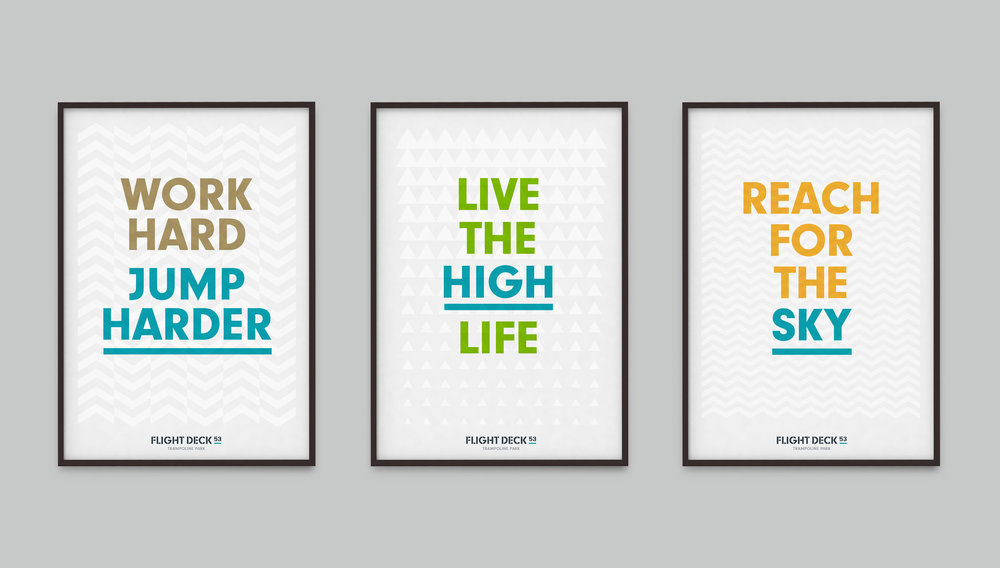 Flight Deck 53 brand posters – Design by Ian Whalley