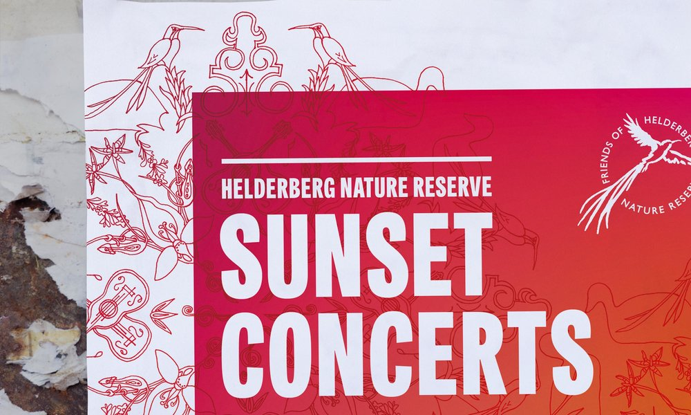 Poster detail – Helderberg Nature Reserve Sunset Concerts – Design by Ian Whalley