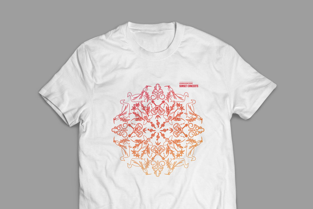 T-shirt for the Sunset Concerts – design by Ian Whalley