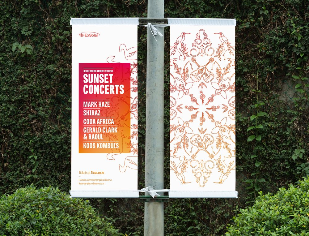 Helderberg Sunset Concerts banners – designed by Ian Whalley