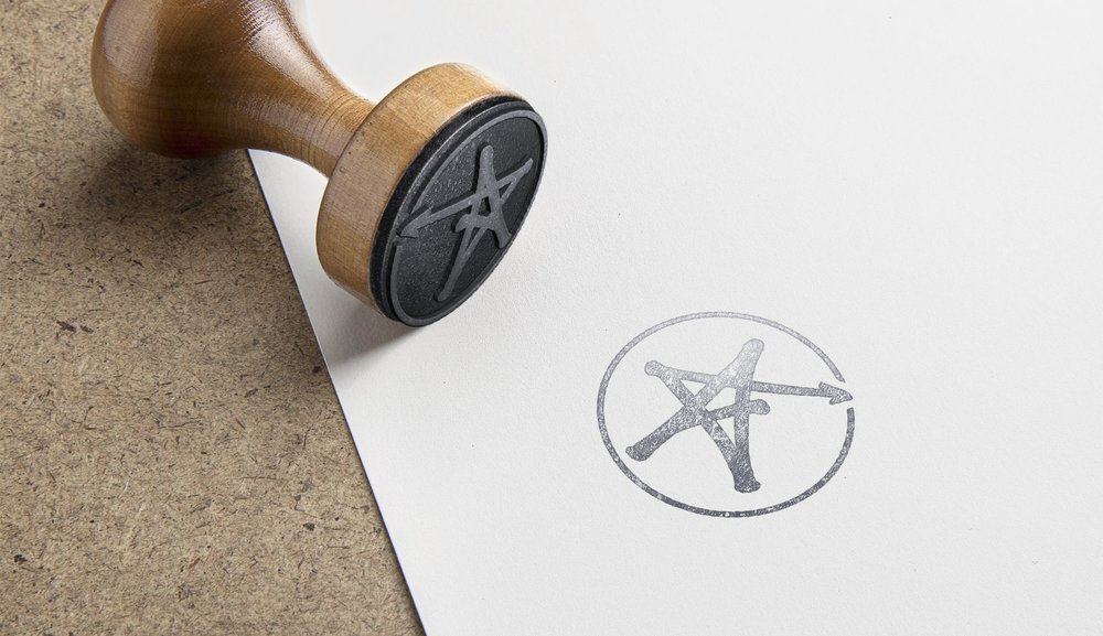 Under the Stars symbol rubber stamp – by Ian Whalley