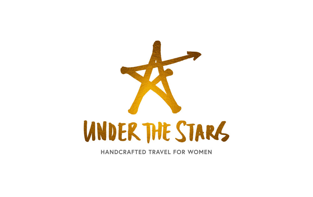 Logo for Under the Stars travel – Design by Ian Whalley