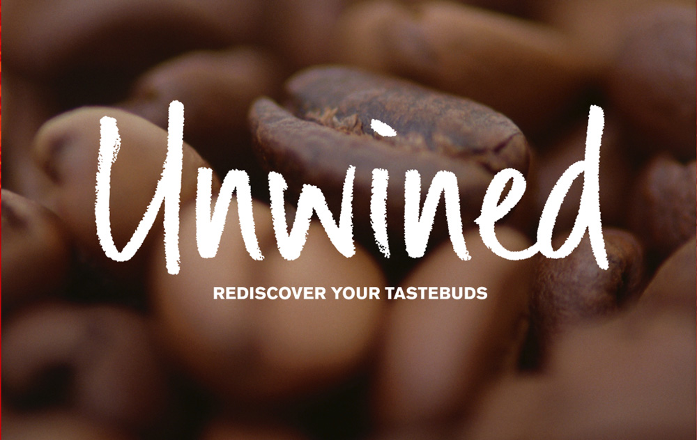Unwined logo variant – coffee – Design by Ian Whalley