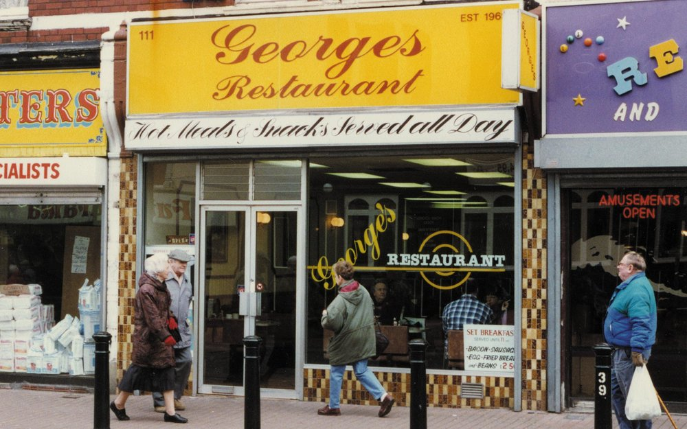 George's Restaurant, the greasy spoon café where Number 54 was recorded – Designed and published by Ian Whalley