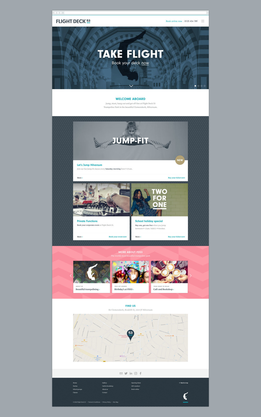 Flight Deck 53 website design concept – Design by Ian Whalley