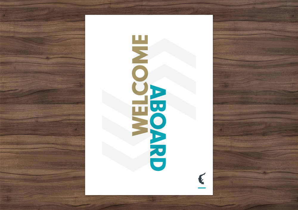 Flight Deck 53 welcome aboard poster – Design by Ian Whalley