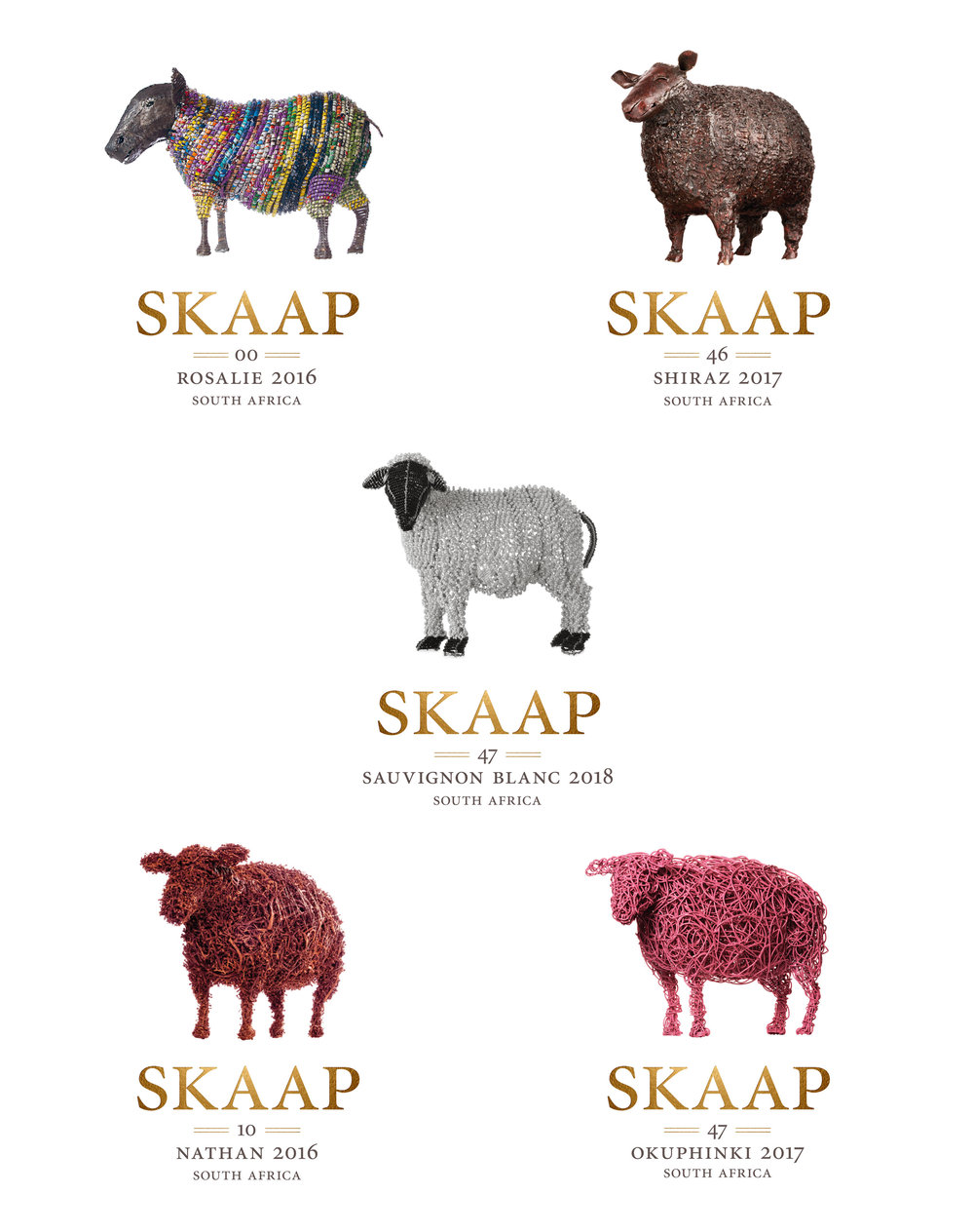 Skaap Wines label artwork – Designed by Ian Whalley
