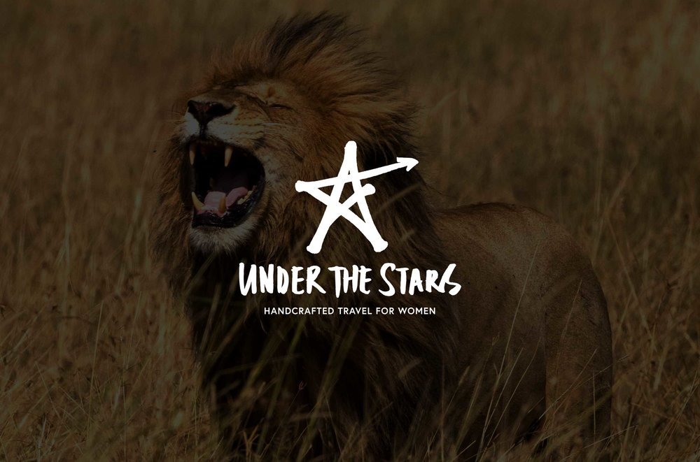 Under the Stars branding – logo on background – Design by Ian Whalley