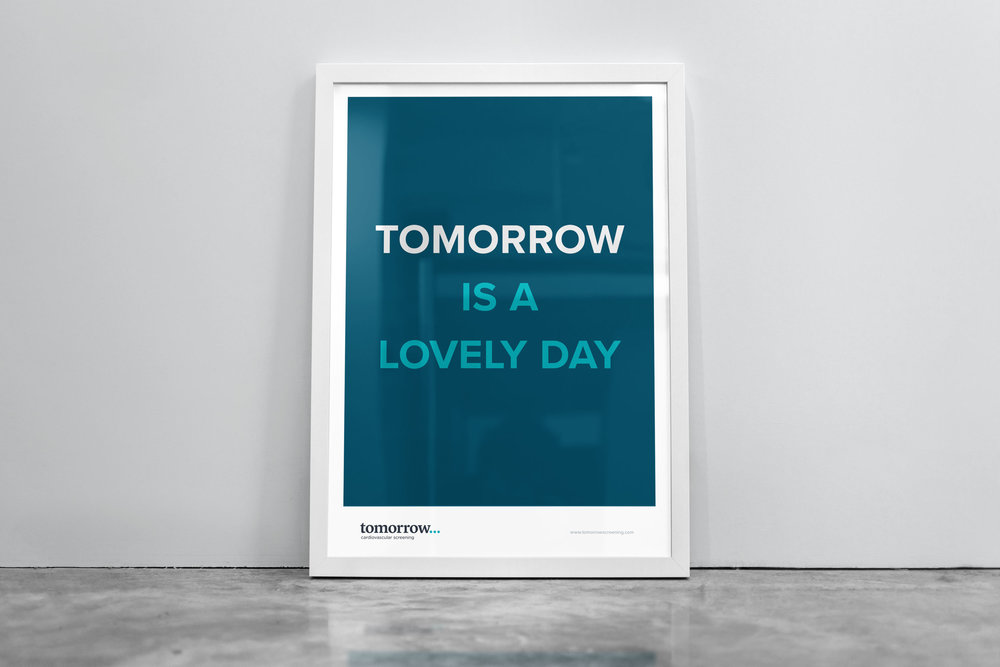 Tomorrow Screening poster – design by Ian Whalley