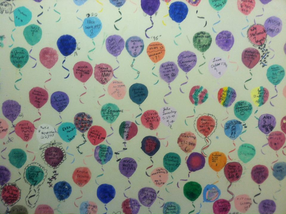 The Pike Creek store's Birthday Wall of Fame.