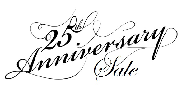 Celebrate our 25th year in business with 20% off almost everything with a $10+ purchase! (See store for exclusions)