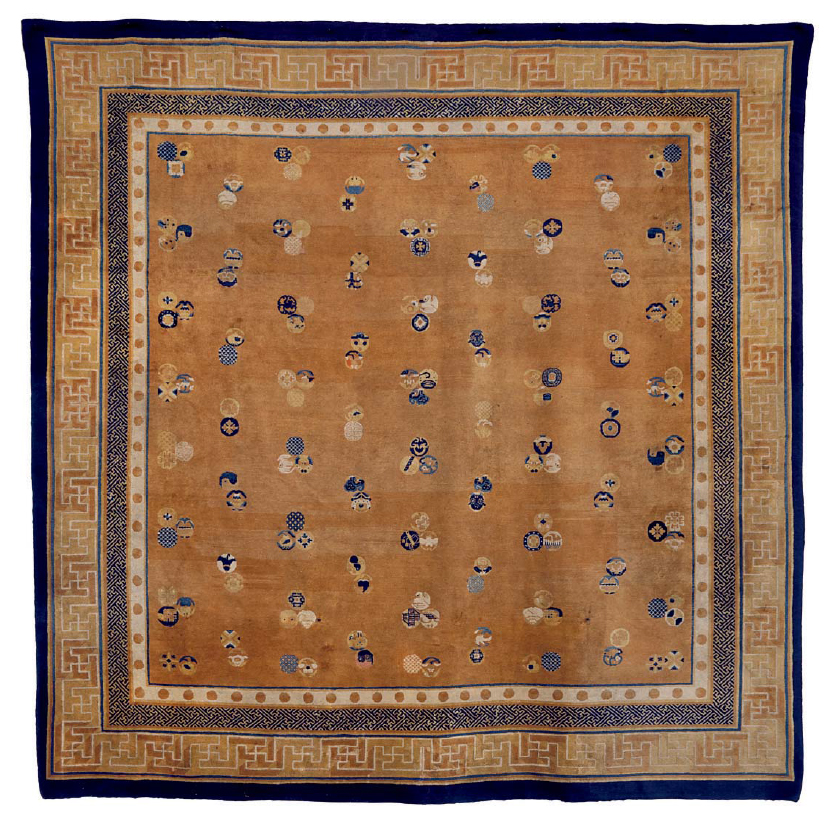 A Chinese Carpet, Late 19th Century, Estimate $ 30,000-$50,000. Price realised: $ 93,750. Image: ©Christie's Inc.