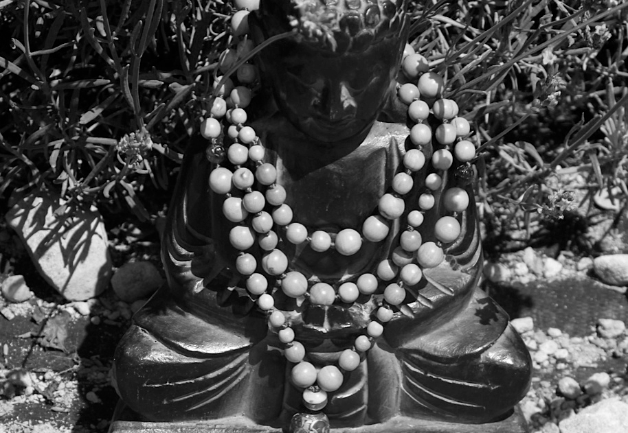 blonde-mala-on-buddha-in-garden_bw.jpg