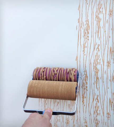 Wood Grain Design Paint Roller