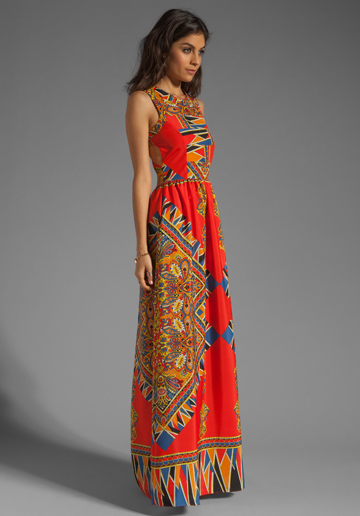 Red Scarf Maxi Dress Kitty Cat Lovers and Friends.jpg