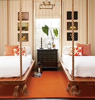 Orange Bedroom Suspended Beds with Ropes.jpg