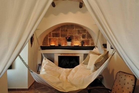 Indoor Hammock Near Fireplace.jpg