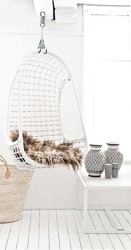 White Wicker Indoor Swing Hanging Chair .jpg