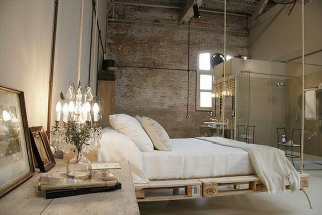 Bed Suspended on Pallets in Loft.jpg