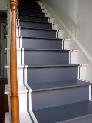 I'm certainly not opposed to painting one's stairs like a runner...