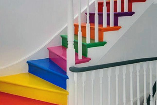 Skittles Stairs.. Taste the rainbow!