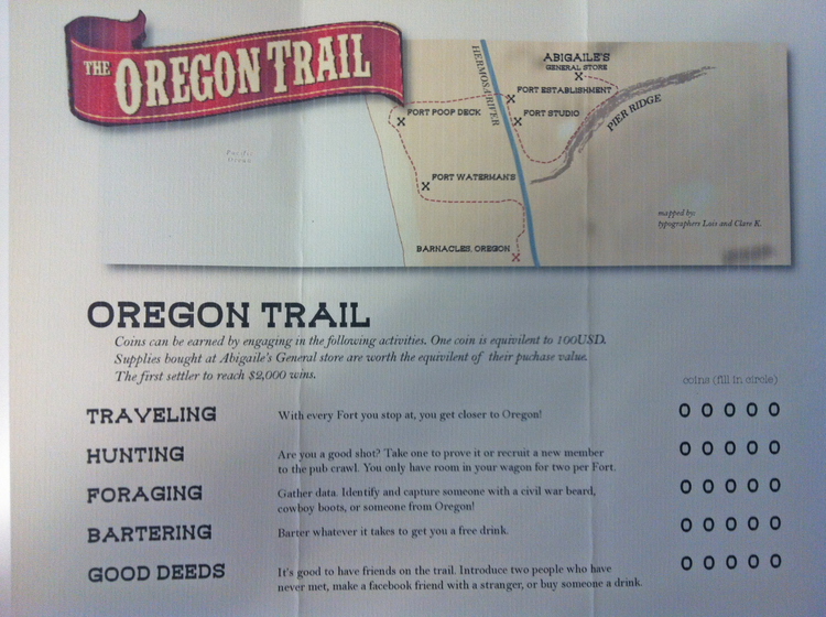 OREGON TRAIL BIRTHDAY BAR CRAWL