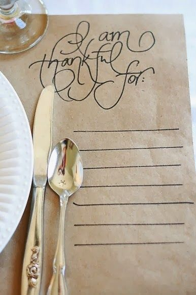 Butcher paper tablecloths + legible handwriting = table setting envy