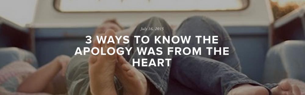 Heart Felt Apology