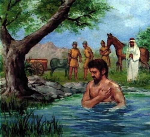 Naaman in the River Jordan