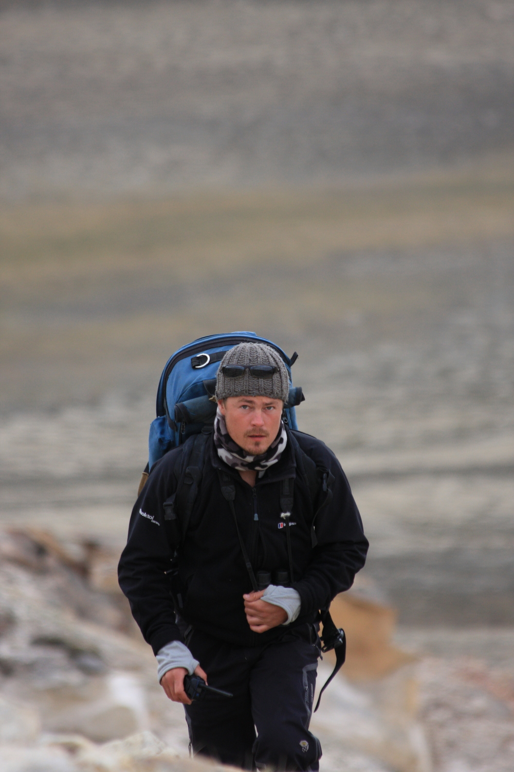 Tracking Arctic Wolves on the northern tip of Ellesmere Island in the Canadian high arctic for the BBC series Frozen Planet