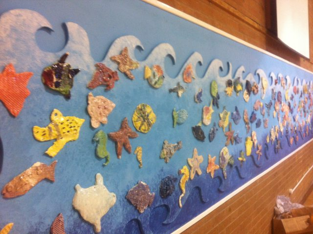 Sea life mural - Hayfield School