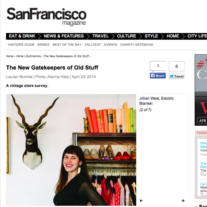 San Francisco Magazine - *Also in Print ed. May 2014*