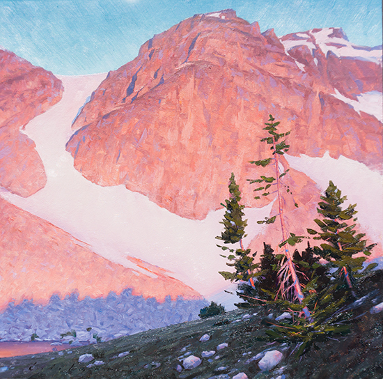 "Paintbrush Divide, 12"" x 12"", Oil on paper, 2015"