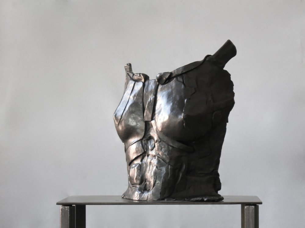 "Bronze H. 13"" W. 11.5"" D. 6.5"""