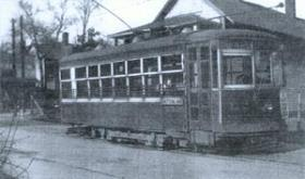 Asheville electric streetcar on its route (c. 1934)