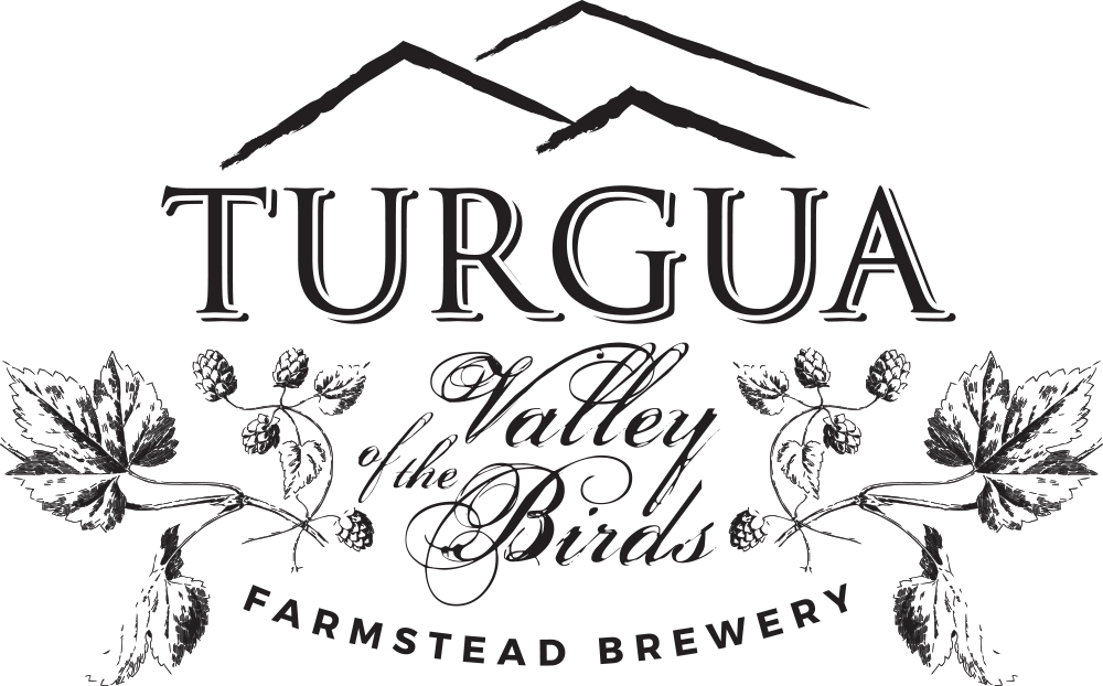 Turgua Brewing is located on property that features fruit and nut trees, a garden for fresh vegetables and herbs and even logs inoculated with edible mushrooms.