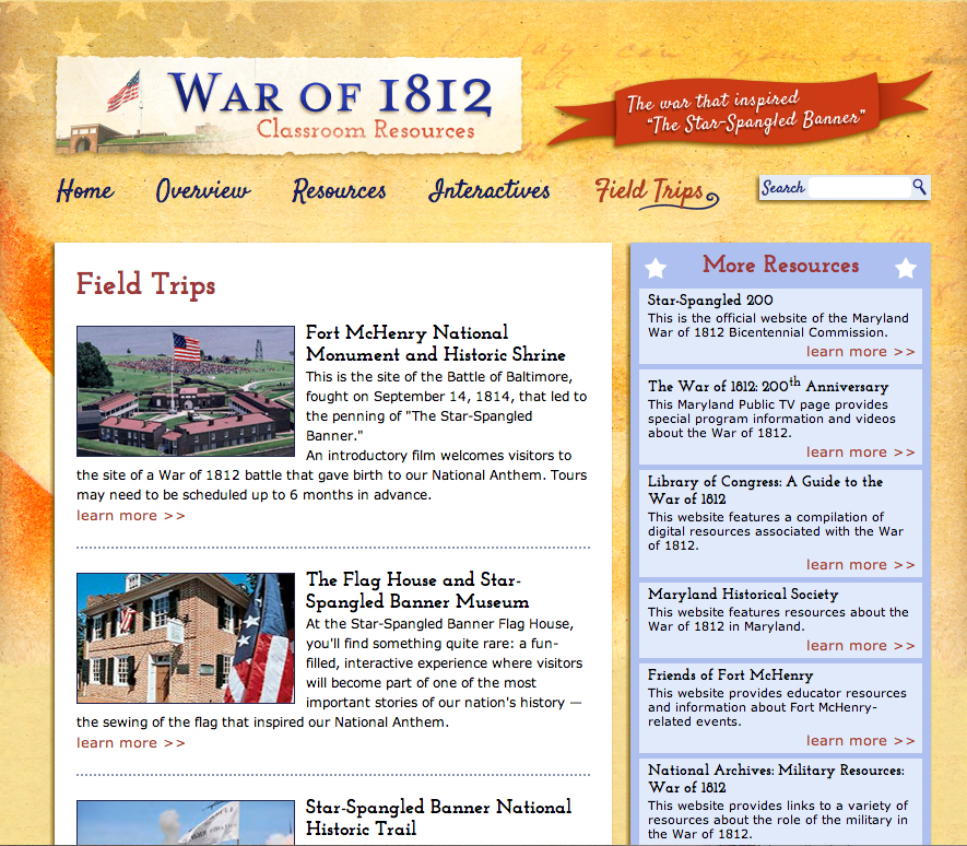 Website war of 1812 fablevision studios war1812tripsg publicscrutiny Gallery
