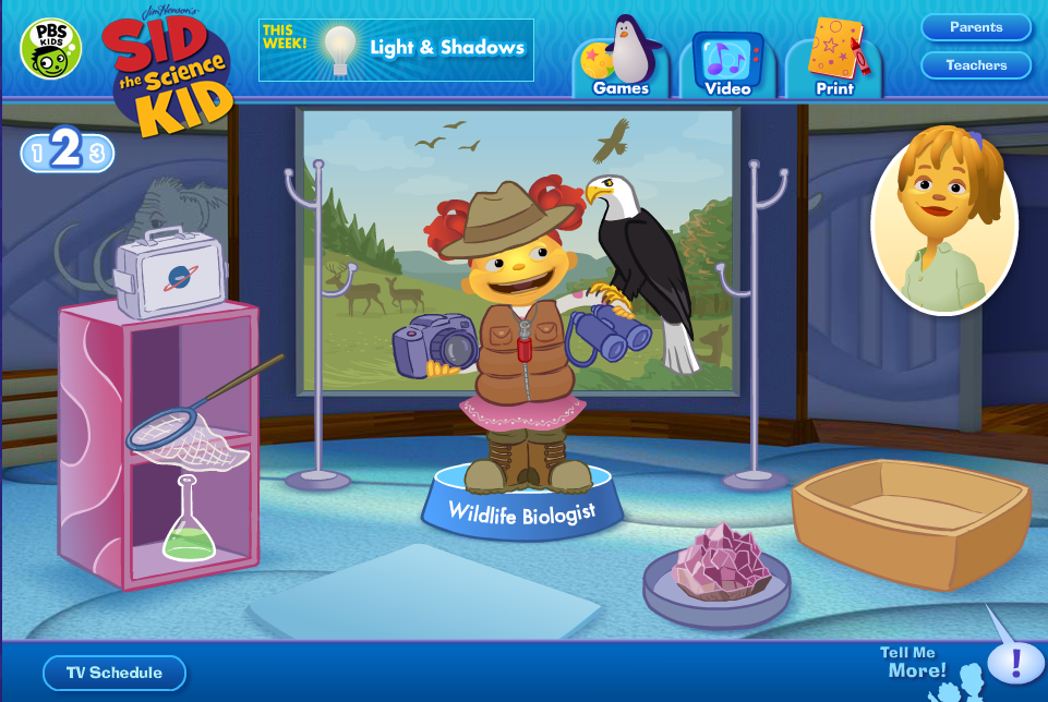 Website Sid The Science Kid FableVision Studios