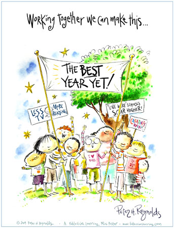 The Best Year Yet, illustration by Peter H. Reynolds
