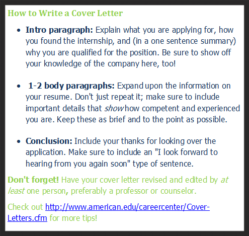 Cover letter skelton
