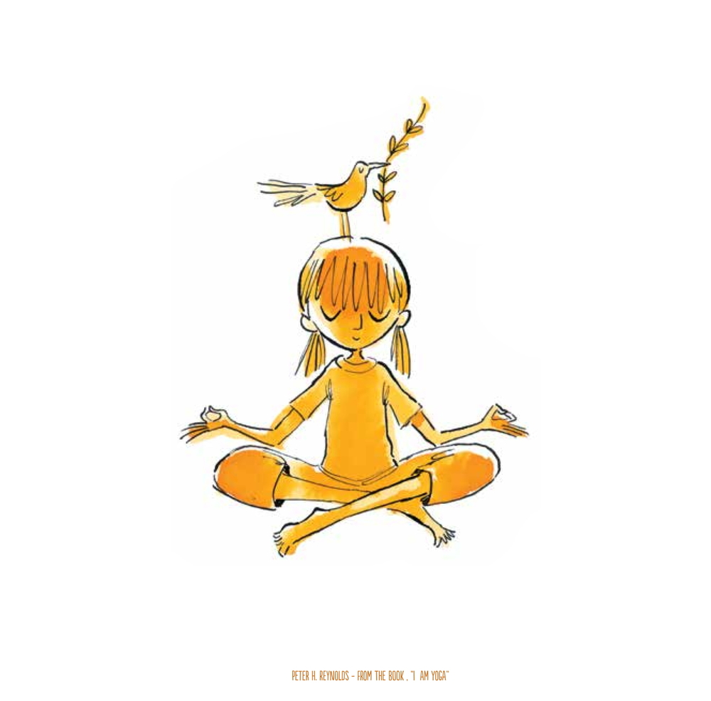 "My upcoming book I AM YOGA, a collaboration with Susan Verde, is an example of the ""bird on the head"" homage to Dad."