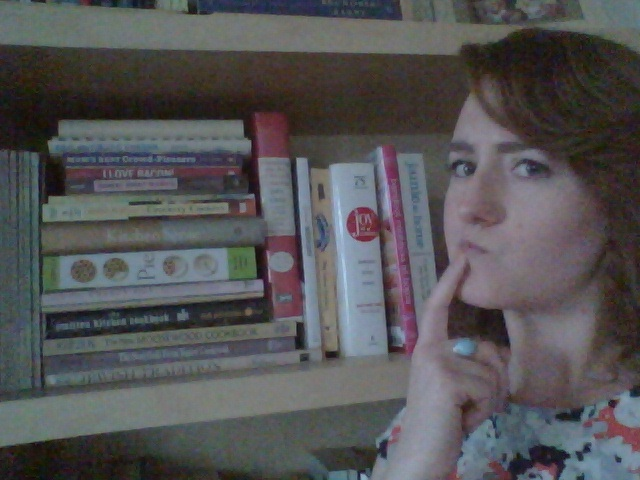Sarah's shelfie with some of her books at home.
