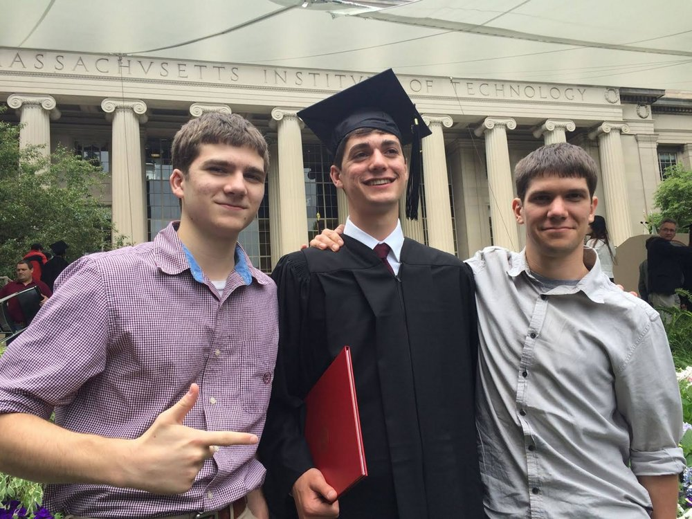 Paul's three sons Nathaniel , Benjamin, and Joshua at Ben's graduation from MIT
