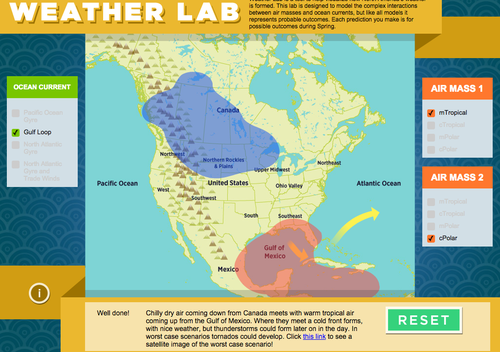 Fablevision resources for a summer of steam fablevision studios weather lab is a free online game that allows players to select different ocean currents and air masses that visualize the result of the combination gumiabroncs Gallery