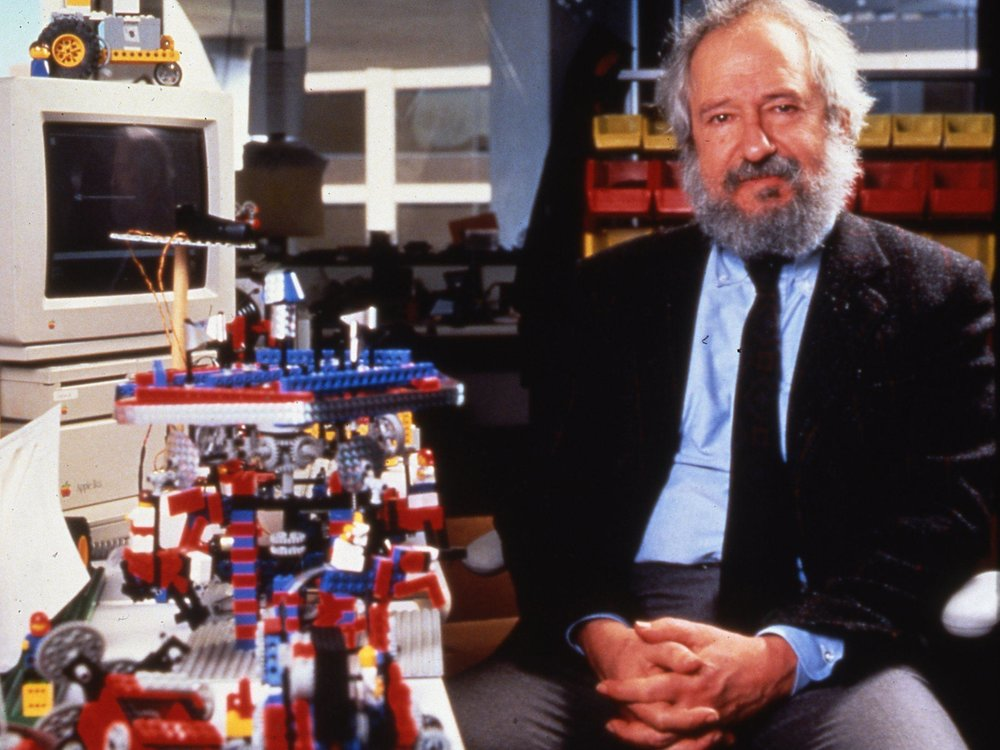 Seymour Papert with LEGO Mindstorms Robotics Kit Photo credit: MIT Media Lab