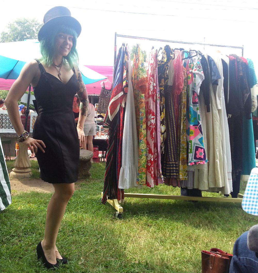 This lovely posed for a pic at Fanny's Vintage Sale, an outdoor sale featuring many of Nashville's favorite vintage dealers.