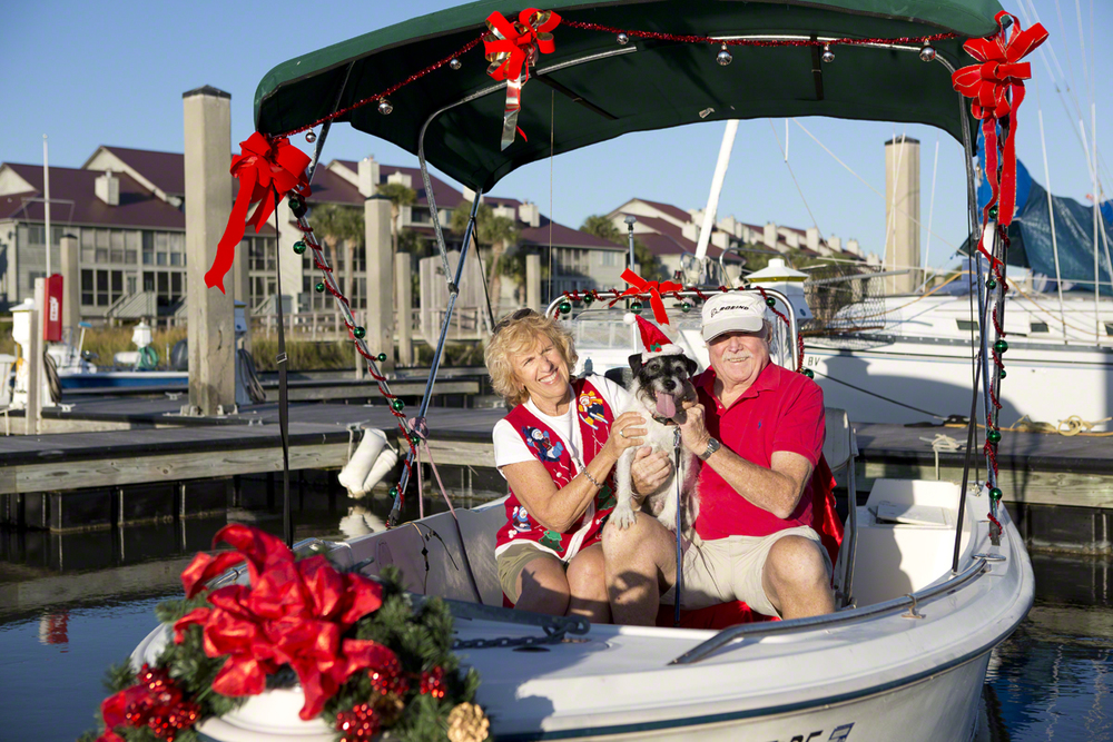 barb, george and winston posing for their christmas card last year. if you know me, you know that i really have to like you to do a family photo....